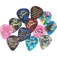 Pick Jesus Guitar Picks - 12 - Pack