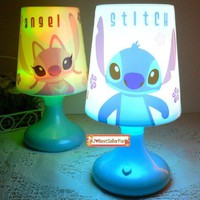 Double Function Stitch and Lilo and Scrump Twilight Night Light Kid Sleep LED Bed Lamp Small