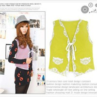 Fashion Lace Naning10 Wool Jacket [2429+yellow] - US&amp;#36;3.00 : Wholesaleclothing4u.com