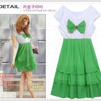 Sexy &amp; Adorable bowknot Dress 4006Green China Dresses Wholesale [4006+green] - US&amp;#36;3.00 : Wholesaleclothing4u.com