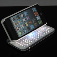 New Gernaration Cool Sliding Bluetooth Keyboard Case For Iphone 4/4s/5