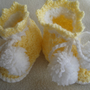 Yellow Baby Booties Newborn to 3 Months