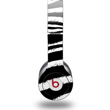 Zebra Decal Style Skin (fits Beats Solo HD Headphones - HEADPHONES NOT INCLUDED)