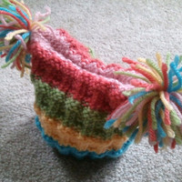 Cute multicolored baby hat and mitts set by megk8199 on Etsy