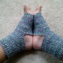 Yoga/Pedicure Socks in Lavender Jacquard by megk8199 on Etsy