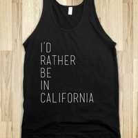 Rather Be In California (black) - Courtney Bond Designs