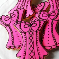 Sexy Corset Cookies by LindasEdibleArt on Etsy