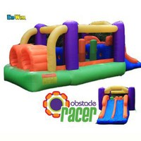 Amazon.com: Kidwise Inflatable Obstacle Racer Bounce House with Slide: Toys & Games