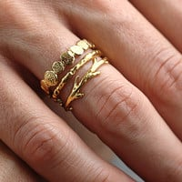 Gold Vermeil Twig Ring by colbyjune on Etsy