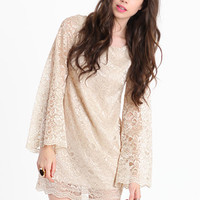 Honeymoon Lace Dress in Beige - $45.00 : ThreadSence.com, Your Spot For Indie Clothing  Indie Urban Culture