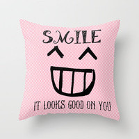 Looks Good :) Throw Pillow by Kayla Gordon | Society6