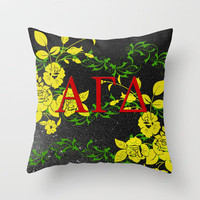 Alpha Gamma Delta (For Erin) Throw Pillow by Kayla Gordon | Society6