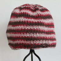 Girl&#x27;s Striped Beanie Ready to Ship by SunshineRoseDesign