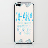 OHANA iPhone &amp; iPod Skin by Sara Eshak | Society6