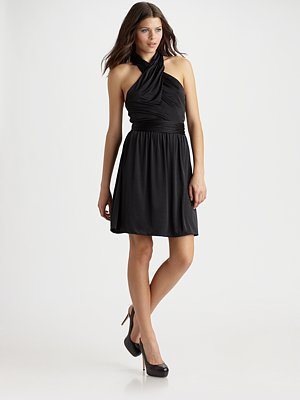 Halston Heritage - Short Halter Twist Dress - Saks.com