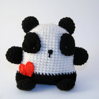 Amigurumi Panda - hand made crochet stuffed animal