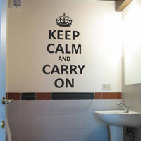 Keep Calm and Carry On Wall Decal Sticker Graphic