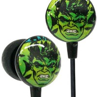 iHip MVF1030HU Marvel Vintage Series Printed Ear Buds-Hulk Green