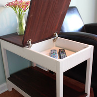 Hidden Storage Side Table