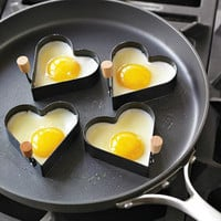 Nonstick Heart Pancake Egg Rings, Set of 2
