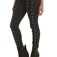 Royal Bones Lace Up Skinny Jeans - 728966