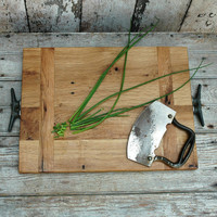 Cutting Board made of reclaimed wood Medium by PegandAwl on Etsy