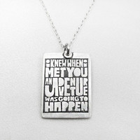 Quote necklace - best friend - love -  friendship jewelry - silver - valentine's day