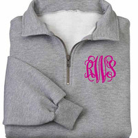 Monogrammed  Pullover Sweatshirt  -1/4 Monogrammed Sweatshirt from The Palm Gifts