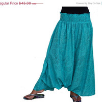 ON SALE Spring Fashion Skirt / Chevron Harem Pants Long Skirt in Mint / Ready to Ship