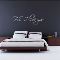 P.S. I Love You - Vinyl Wall Art Decal Stickers Decor Graphics