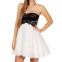 Pre-Order: Adabelle-Black/White Prom Dress