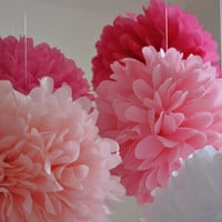 paper pom poms  PRINCESS PARTY Collection  15 poms by PomDecor