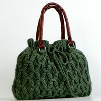 Fall Winter Fashion SALE OFF 15 NzLbags Green Knit by NzLbags