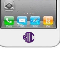 Set of 6 iPhone Home Button Monogram by DecalInnovations on Etsy