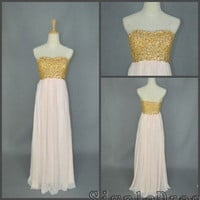 Real Beach Sweetheart Floor-length Chiffon Sequin Fashion Long Prom/Evening/Party/Homecoming/Bridesmaid/Formal Dress 2013 New Arrival