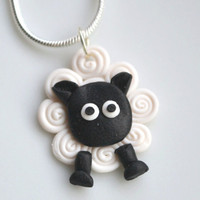 Miniature Sheep Necklace by SweetnNeatJewellery on Etsy