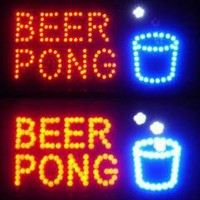 Beer Pong Bar Neon LED Sign - Flashing Lights