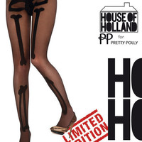 Peek Brooklyn - Bad to Bone Tights from House of Holland Stockings, tights, hold-ups and leggings
