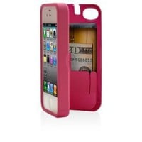 Amazon.com: Pink Case for iPhone 4/4S with built-in storage space for credit cards/ID/money, by EYN (Everything You Need): Cell Phones &amp; Accessories