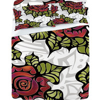 DENY Designs Home Accessories | Gina Rivas Design Tribal Rose Sheet Set