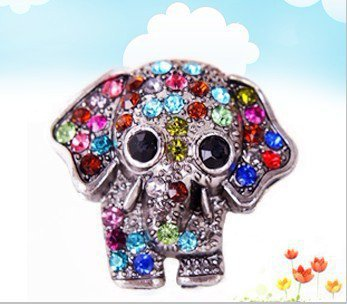 Lovely Full Rhinestone Studded Elephant Animal Ring