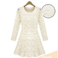 Plus velvet lace Slim dress LYQ0015
