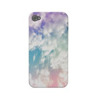 Purple Blue Abstract Cloud Pattern iPhone Case Iphone 4 Case-mate Cases from Zazzle.com