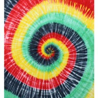 Rasta Spiral Tie-Dye Tapestry - Hanging Wall Art - Great for Apartments, Dorms, Homes, and Office