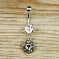 Nickel Bullet Dangle Belly Button Ring