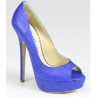 Jimmy Choo 'Vita' Genuine Snakeskin Pump