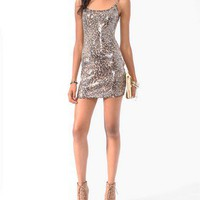 Sequined Leopard Print Dress | FOREVER 21 - 2021839933