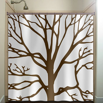Brown Tree Branches Shower Curtain From Tablishedworks On Etsy