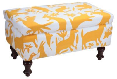 One Kings Lane - Better Living - Lemon Forest-Print Otoni Ottoman