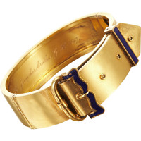 Olivia Collings Antique Jewelry Gold Buckle Bangle | Barneys New York